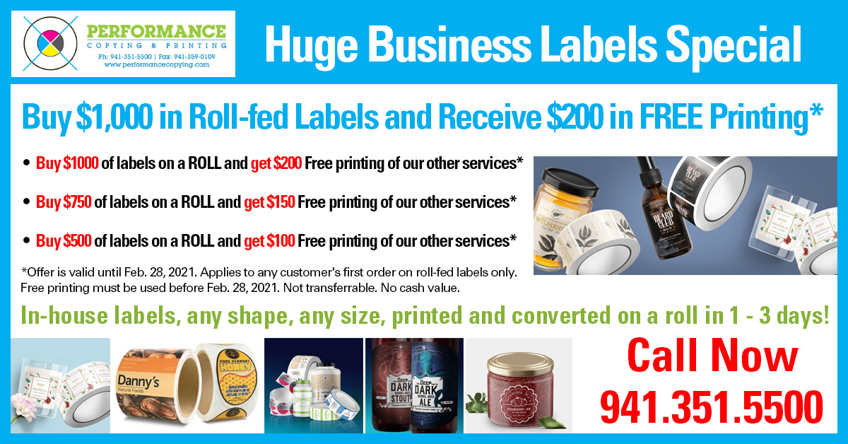 Huge Business Labels Special